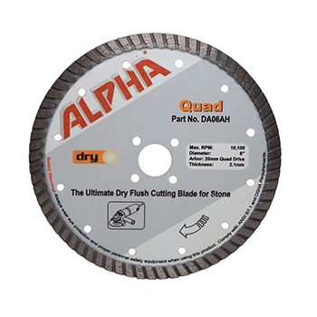 ALPHA PROFESSIONAL TOOLS WET/DRY DIAMOND BLADE DIAMOND BORE - 5/8