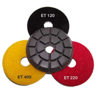 Italian Craftsman Epoxy Terrazzo Floor Polishing Discs Wet 3