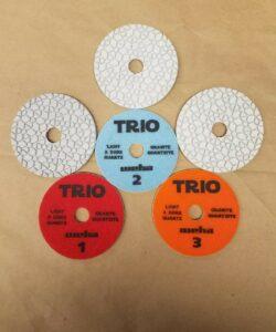 Trio Pads, 3 Step Polishing Pads