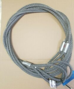 Cables Heavy Duty Bundle Cables., 18 Ft. in length. Eyes on each end. 1 Pair. Weight capacity: 6,000 lbs. each one.
