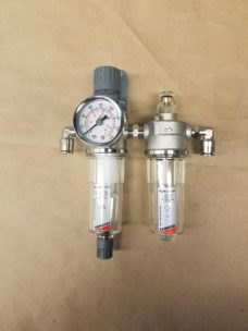 Air Separator with pressure gauge for table brake system.