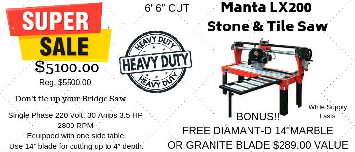 Manta LX200 Stone & Tile Saw