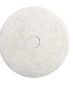 WHITE NYLON POLISHING PADS 10""
