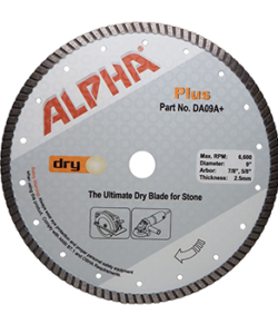 "ALPHA PROFESSIONAL TOOLS 12"" DIAMOND BLADE 1"" - 20MM ARBOR WET/DRY CUT"