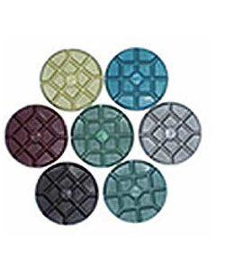 "Italian Craftsman Conquer Concrete Floor Polishing Discs Wet 3"""